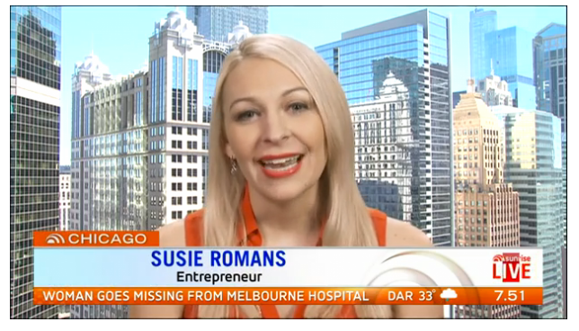 Featured on Sunrise On Seven: Susie Romans LIVE on TV